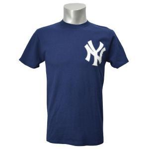 MLB ヤンキース Tシャツ ネイビー マジェスティック New Wordmark Tシャツ|selection-j