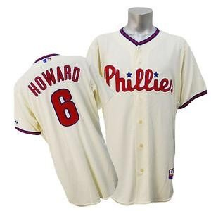 MLB フィリーズ ライアン・ハワード ユニフォーム オルタネート マジェスティック Authentic Player ユニフォーム|selection-j