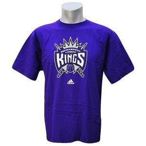 NBA キングス Tシャツ パープル アディダス Full Primary Logo Short Sleeve Tシャツ|selection-j