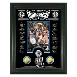 NBA マーベリックス フォトフレーム ハイランドミント 2011 NBA Champions Signature Etched Glass Photo Mint|selection-j