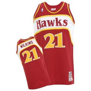 NBA ホークス ドミニク・ウィルキンス ユニフォーム 1986-1987/ロード ミッチェル&ネス Throwback Authentic ユニフォーム【1902NBAセール】|selection-j