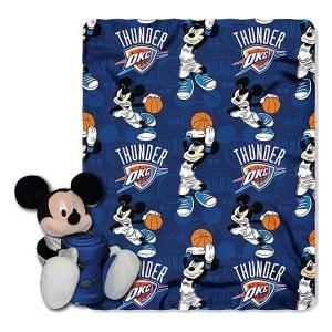 NBA サンダー ミッキー ぬいぐるみ ノースウェスト/Northwest Shaped Pillow with Fleece Throw Set selection-j