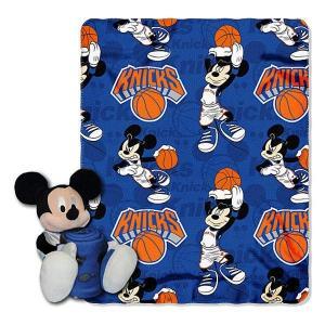 NBA ニックス ミッキー ぬいぐるみ ノースウェスト/Northwest Shaped Pillow with Fleece Throw Set selection-j