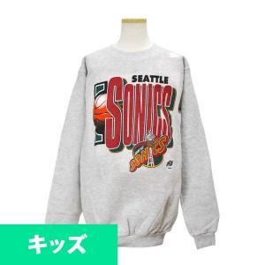 NBA スーパーソニックス キッズスウェット ヘザーグレー ロゴアスレティック/Logo Athletic キッズ Basketball Logo Sweat Shirt|selection-j