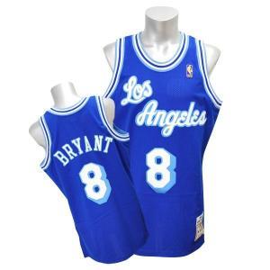 NBA レイカーズ コービー・ブライアント ユニフォーム 1996-1997/ブルー ミッチェル&ネス Throwback Authentic ユニフォーム【1902NBAセール】|selection-j