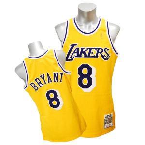 NBA レイカーズ コービー・ブライアント ユニフォーム 1996-1997/ゴールド ミッチェル&ネス Throwback Authentic ユニフォーム selection-j