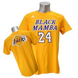 NBA レイカーズ コービー・ブライアント Tシャツ ゴールド アディダス Nickname Overlap Tシャツ selection-j