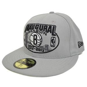 NBA ネッツ キャップ/帽子 グレー ニューエラ Inaugural Basic Logo Fitted 59FIFTY キャップ selection-j