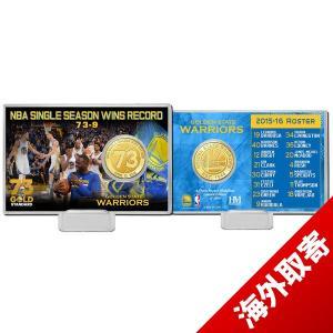 お取り寄せ NBA ウォリアーズ レコード ブレーキング シーズン 73ウィンズ ブロンズ コイン カード ハイランドミント/The Highland Mint|selection-j