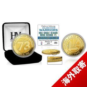 お取り寄せ NBA ウォリアーズ レコード ブレーキング シーズン 73ウィンズ 39mm ゴールド コイン ハイランドミント/The Highland Mint|selection-j