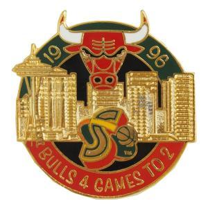 NBA 5-Time チャンピオン シリーズ 1996 ブルズ vs スーパーソニックス ピンバッジ レアアイテム|selection-j