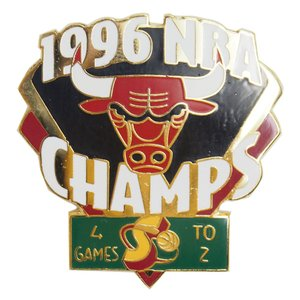 NBA 6-Time チャンピオン シリーズ 1996 ブルズ vs スーパーソニックス ピンバッジ レアアイテム|selection-j