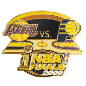 NBA ファイナル 2000 レイカーズ vs ペイサーズ 記念 ピンバッジ レアアイテム|selection-j