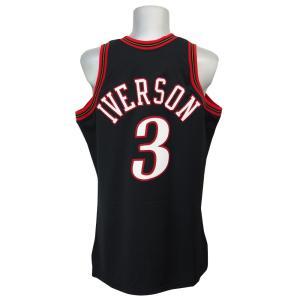 NBA 76ers アレン・アイバーソン スローバック オーセンティック ユニフォーム ミッチェル&ネス/Mitchell & Ness【1902NBAセール】|selection-j
