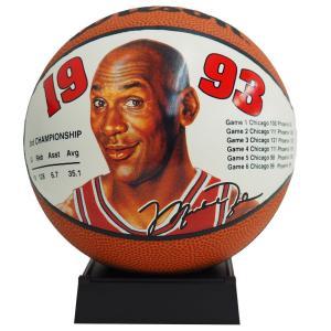 NBA ブルズ マイケル・ジョーダン ミニ バスケットボール 1993 ウィルソン/Wilson レアアイテム【1910価格変更】|selection-j