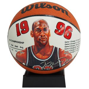 NBA ブルズ マイケル・ジョーダン ミニ バスケットボール 1996 ウィルソン/Wilson レアアイテム【1910価格変更】|selection-j