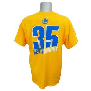NBA ウォリアーズ ケビン・デュラント レコード ホルダー Tシャツ マジェスティック/Majestic イエロー【1910セール】|selection-j