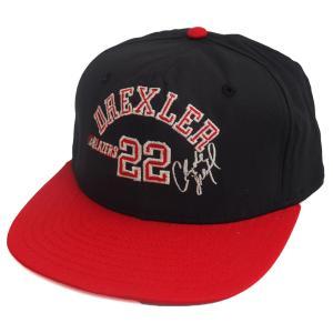 NBA トレイルブレイザーズ クライド・ドレクスラー シグネチャー キャップ/帽子 AJD ブラック レアアイテム|selection-j