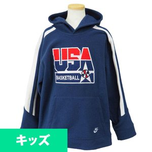 USAバスケット代表 オリンピック ボーイズ フリース パーカー ナイキ/Nike ネイビー レアアイテム【1909プレミア】|selection-j