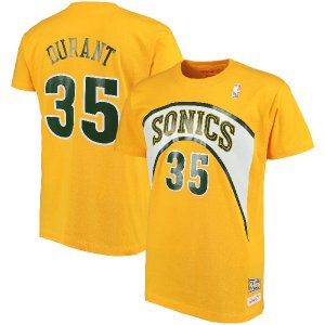 お取り寄せ NBA スーパーソニックス ケビン・デュラント レトロ ネーム&ナンバー Tシャツ Mitchell & Ness|selection-j
