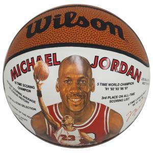NBA ブルズ マイケル・ジョーダン レコード ミニ バスケットボール ウィルソン/Wilson レアアイテム【1910価格変更】|selection-j