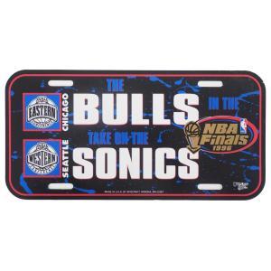 NBA ブルズ ファイナルズ 1996 ブルズ ソニックス カープレート ウィンクラフト/WinCraft|selection-j