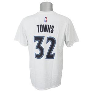 NBA ティンバーウルブズ カール=アンソニー・タウンズ ゲームタイム Tシャツ アディダス/Adidas ホワイト【1808NBA】【1907セール】【1909セール】 selection-j