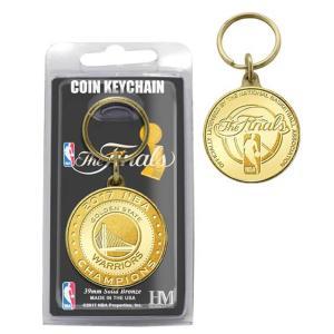 NBA ウォリアーズ 2017 ファイナル チャンピオンズ ブロンズコイン キーホルダー The Highland Mint|selection-j