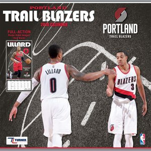 NBA トレイルブレイザーズ 2018 チーム ウォール カレンダー ターナー/Turner|selection-j