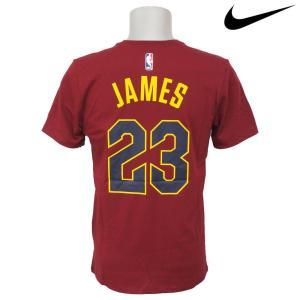 NBA Nike/ナイキ  キャバリアーズ レブロン・ジェイムス ネーム&ナンバー Tシャツ チームレッド|selection-j