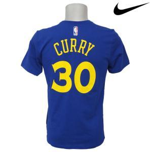 NBA Nike/ナイキ  ウォリアーズ ステファン・カリー ステフィン・カリー ネーム&ナンバー Tシャツ ラッシュブルー|selection-j