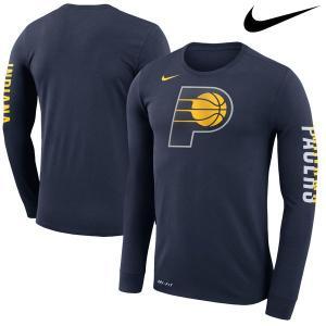 お取り寄せ NBA ペイサーズ ロゴ ロングスリーブ Tシャツ ナイキ/Nike ネイビー|selection-j