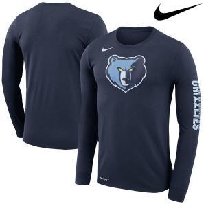 お取り寄せ NBA グリズリーズ ロゴ ロングスリーブ Tシャツ ナイキ/Nike ネイビー|selection-j