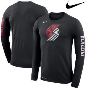 お取り寄せ NBA トレイルブレイザーズ ロゴ ロングスリーブ Tシャツ ナイキ/Nike ブラック|selection-j