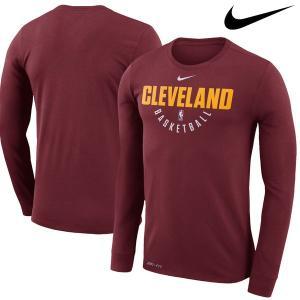 お取り寄せ NBA Nike/ナイキ キャバリアーズ プラクティス ロングスリーブ パフォーマンス Tシャツ ワイン|selection-j