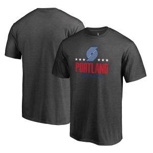 お取り寄せ NBA トレイルブレイザーズ Hoops for Troops Tシャツ アッシュ|selection-j