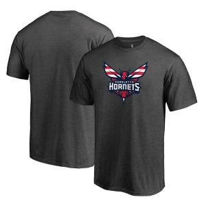 お取り寄せ NBA ホーネッツ Hoops for Troops Tシャツ アッシュ|selection-j