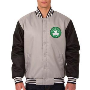 NBA セルティックス ポリツイル ロゴ ジャケット/ジャンパー JH デザイン/JH Design グレー/ブラック|selection-j