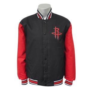 NBA ロケッツ ポリツイル ロゴ ジャケット/ジャンパー JH デザイン/JH Design ブラック/レッド|selection-j