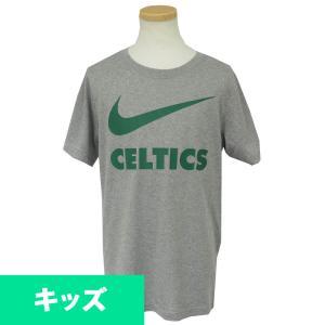 ナイキ/Nike NBA セルティックス スウォッシュ チーム ポリ キッズ Tシャツ 半袖 ダークグレーヘザー selection-j