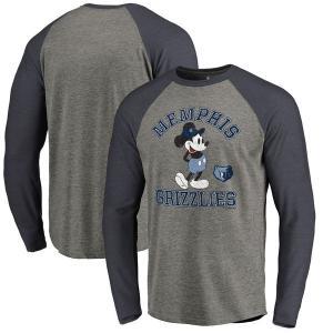 お取り寄せ NBA グリズリーズ ディズニー ミッキーマウス トラディション Tri-Blend ロングTシャツ アッシュ|selection-j