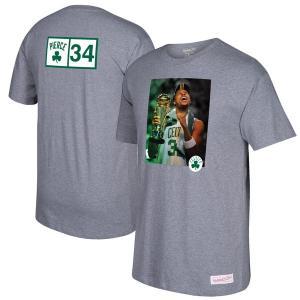 お取り寄せ NBA セルティックス ポール・ピアース グラフィック Tシャツ 半袖 Mitchell & Ness グレー selection-j