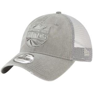 お取り寄せ NBA キングス メッシュ キャップ/帽子 ウォッシュド トラッカー 9TWENTY ニューエラ/New Era グレー|selection-j
