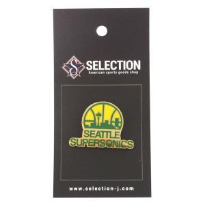 NBA スーパーソニックス ピンバッジ/ピンズ チームロゴ ラペル レアアイテム|selection-j