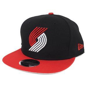 NBA トレイルブレイザーズ キャップ/帽子 9FIFTY アジャスタブル スナップバック 2トーン オリジナル フィット ニューエラ/New Era ブラック|selection-j
