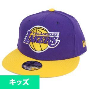 NBA レイカーズ キッズ キャップ/帽子 9FIFTY 2トーン ニューエラ/New Era パープル selection-j