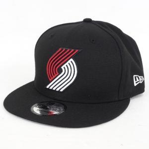NBA トレイルブレイザーズ 9FIFTY キャップ/帽子 オフィシャル チームカラー アジャスタブル ニューエラ/New Era ブラック|selection-j