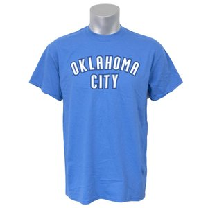 NBA サンダー Tシャツ 半袖 シティ ワードマーク マジェスティック/Majestic ブルー selection-j