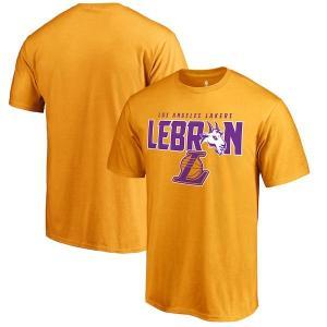 NBA レイカーズ レブロン・ジェイムス GOAT/ゴート Tシャツ ゴールド【1909セール】|selection-j