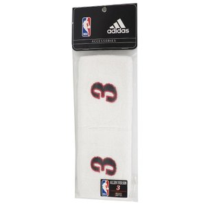 NBA 76ers アレン・アイバーソン リストバンド 2個セット アディダス/Adidas ホワイト|selection-j
